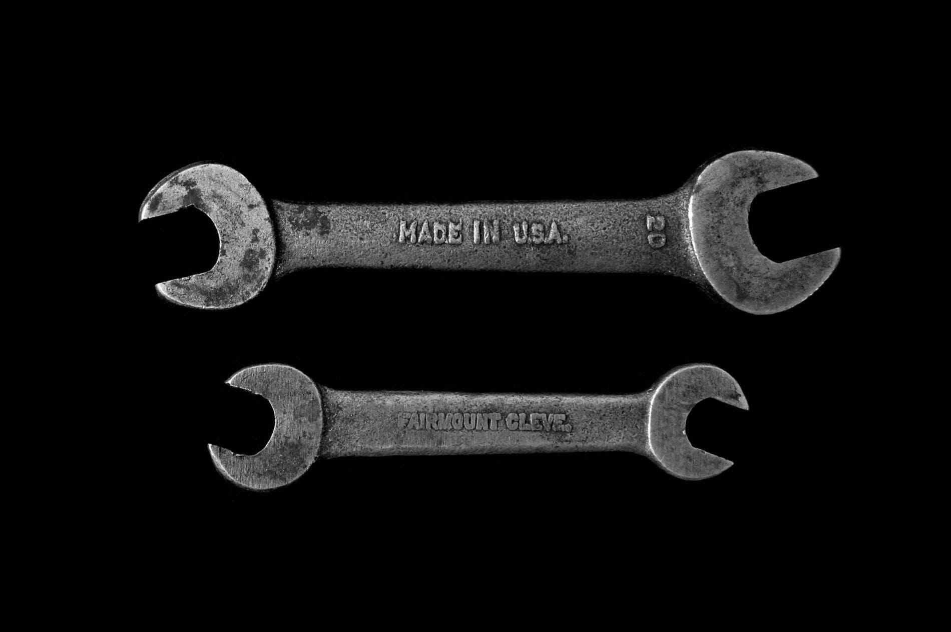 How to cooperate with SEO specialists - 2 wrenches - number 20 made in USA and second one made by farmount cleve